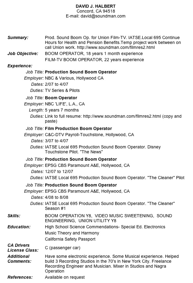 Cal Jobs Resume Update usajobs resume sample